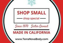 "Small, Indie, Local / Our small business manufactures in northern California since 1970. We are proud to say ""sister owned and locally made"". Small business is the backbone of our economy and shopping small is stress free, feel good and where you kind find most ""Pinnable"" items!"