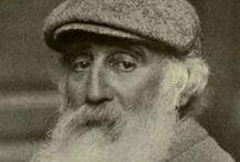 Camille Pissaro / Καμιλ Πισαρο,χαρακτηριστηκε ο ζωγραφος της γης,διοτι ζωγραφισε τη ζωη των αγροτων,τα χωραφια κ.ο.κ και πατριαρχης του ιμπρεσιονισμου,λογω των ιδαιτερων χαρακτηριστικων του υφους του,αλλα και κυριολεκτικα,διοτι ηταν ηλικιακα ο γηραιοτερος καλλιτεχνης που συμμετειχε στο κινημα του ιμπρεσιονισμου.