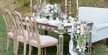 Temecula Creek Inn Wedding {Kimberlee and Jeffrey's Design Board} / Rustic elegance in rose quartz and serenity
