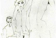 Peinture / Egon Schiele Claude Monet