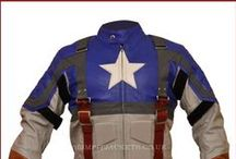 Chris Evans Captain America First Avengers Leather Costume / Buy Captain America First Avengers Chris Evans (Steve Rogers) Leather Costume Jacket from the online leather jacket store Slimfit Jackets UK at very reasonable price.