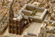 La cathédrale de Strasbourg en relief / En cette année 2015, à l'occasion des 1000 ans de la fondation de la #cathédrale de #Strasbourg, retrouvez ce monument sous toutes les coutures : sur notre plan-relief du 19e siècle bien sûr, mais également sur une sélection de documents de nos #archives.