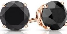 Black & Rose Collection / Our Collection of black diamond studs in 14k rose gold