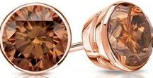 Brown & Rose Collection / Our Collection of brown diamond studs in 14k rose gold