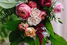 WED: blush + zephyr + mauve +  burgundy + berry