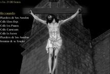 cartelería para la parroquia de San Amador y Santa Ana