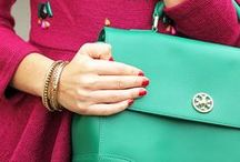 Green bag / Women handbags. Women fashion.