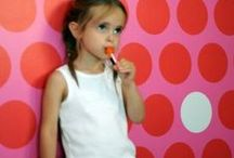 Pop & Lolli at RockprettyBaby.ca / Pop & Lolli chic fabric wall stickers and wallpaper are ultra easy to install and play with.  Made in the USA of nontoxic materials and lead free ink.  Available in Canada at rpKids.ca and RockprettyBaby.ca