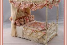 Poppenhuis slaapkamer