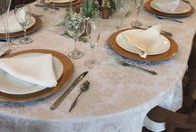 Dinnerware of Cielo Blu Barn / Cielo Blu Barn offers dinnerware to save you in rental costs ... Plates, flatware, glassware, linens and props too!  Tables and chairs included also.