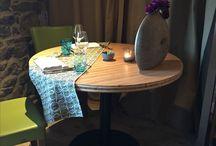 Hôtel / #Restaurant /bar / #Aménagement de #restaurant d'#hôtellerie / bar en #tables conçues et fabriquées par #MACMobilier #madeinbzh