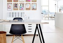 Home Offices Spaces / Home office decor, desk accessories, organizational tools