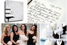 Wedding: Formal Cake  / Canvas Kudos 'Formal Cake' is perfect #guestbook option for a black and white #wedding. #blackandwhite