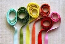 Ribbons  / A great way to add color and texture to your Canvas Kudos!