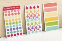 Stickers. / Make it stick! Stickers are perfect for the quick and cute additions to your Canvas Kudos!