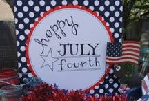 4th of July Party Ideas / Great ideas for Summer's favorite celebration! Create your very own 4th of July piece for your big party. Set up on the picnic table and have friends sign and leave a special note.   https://www.canvaskudos.com/personalization
