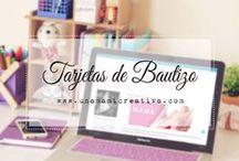 Tarjetas Bautizo ♡