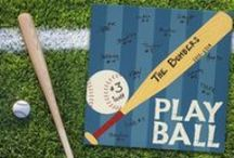 Sports: Baseball / A 12x12 canvas that you can write on and hang on a wall or stand on a shelf! The Perfect Keepsake for your Little Leaguer #baseball #littleleague #boys