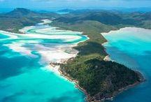 Oceanië / Inspiratie die je op kunt doen over de (ei)landen die zich bevinden in een werelddeel vol met witte stranden, lichtblauw water en groene natuur.