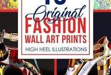 Fashion Wall Art Prints   Kenal Louis / A luxurious fashion art collection I've been working on for a long time. This body of fashion wall art and fashion art prints feature handbags as well as high heels. The collection of artworks is always growing as I create more shoes, bags and fashion style art. Shop any of these beautiful artworks and own something special. Fashion Art, Fashion Wall Art, Fashion Art Prints, Fashion Illustrations    #fashion #illustrations #fashionart #highheels