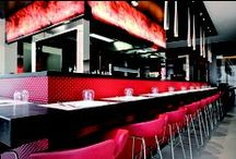 RESTAURANT PORTFOLIO STUDIO SIMONETTI: Show Kitchen@THotels / Show Kitchen in Brescia and Milan THotels; we worked on the hotel chain concept and on the architectural project of the outside of the building, interior, furnishings and decorations. The show kitchen has been proposed to allow guests to be closer to the food preparation, to the staff and to other guests.