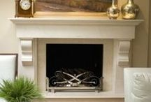 fireplace remodel! / inspiration for my currently raw fireplace
