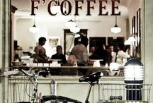 Cafe Interiors / Set of inspirational pics for the future best and most pleasant cafe