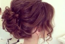 Hair ideas for prom / Styles that cover the ears but lifts up off the shoulders. Maybe a bit of height on the top too.