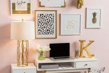 Desk Decor Inspiration / Desk decor to provide the best inspiration for creative spaces. || My personal blog: www.livelaughlinda.com || Desk Decor, Home Office, Reorganizing, Redecorating, Desk Decor Inspiration, Home Inspiration