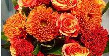 Orange Posies / Orange flowers, bouquets and gorgeous color combinations