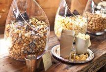 Weddings! Food or beverage table presentation ideas