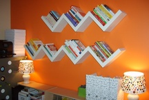 Creative Book/Movie/Music Storage / Here are lots of idea on how to creatively store all of you media.