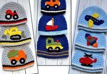 Crochet Applique Patterns / Crochet patterns for appliques to add to any DIY project