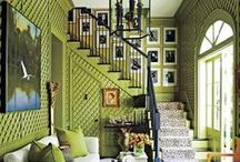Green obsession / Lots of green or adding pops of green in interior design