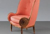 """Chairs & armchairs / Odd, modern, vintage, antique, bold, strangely shaped pieces of furniture to sit on. Check also my board """"Mid century chair love"""""""