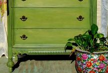 Painted furniture / Bold furniture remakes or colorful modern ones