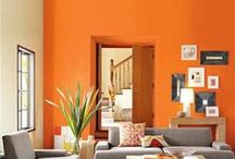 Orange bliss / Orange is such a lively, cheerful & modern color to decorate with!!!