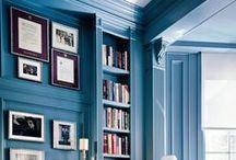 Blues / All shades  of blues ( romantic pastels, ice,  bold, cheerful, moody, indigo, royal, navy, melancholic-gray plus turquoise-aqua tones ) in interior decoration