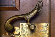 Door handles,  knockers & knobs