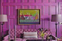 Purple, lilac, orchid, aubergine, magenta, violet, plum, mauve... / Creating theatrical, dramatic, mystic, spiritual atmosphere with purple