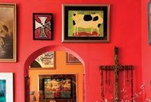 Red / Powerful, bold, dramatic, rich red  interiors