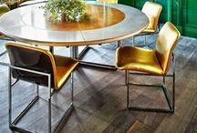 A touch of gold /  Gold as a color. Too much can be kitsch! Added carefully can transform interiors & objects into elegant ones