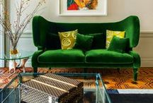 Lush velvet / Used in home interiors gives the feeling of warmth and luxury