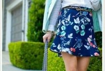 Flower skirt / Flower pattern always be my fave! Look so romantic and eye catching