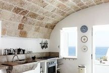 Mediterranean inspiration / Austere but creative architecture & decoration, not just blue & white - in their natural enviroment ( Greek islands, South France, Coastal Spain, Italy, Northern Africa...)