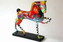 Horse & donkey (art) objects
