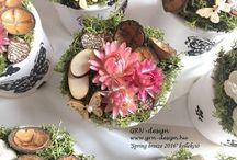 GRN Design/ Handmade products/ Home decoration / Dísztárgyak, dekorációk, otthon szépítés, ajtókoszorúk, fa tárgyak és dobozkák díszítése. Wreath / Home decoration / Handmade products / Wood table, box and other