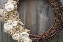 Wreath / koszorú, ajtódísz ötletek
