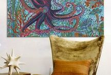 "The ""octopus"" effect / The shape and pattern of the octopus in objects & home decoration. Lots of art nouveau touch"
