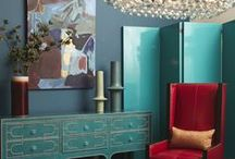 """Just TEAL / The teal color: Somewhere between blue and green ( a little grey maybe added). A worn turquiose. """"Peacock"""" blue, """"Ming"""" blue. It has a vintage """"velvet"""" touch. Coordinates nicely with bright  wood, orange vermillion, gold, coral, grey, red, brown, lime, purple..."""